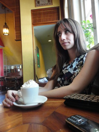 coffee time in harvard square with sarah.